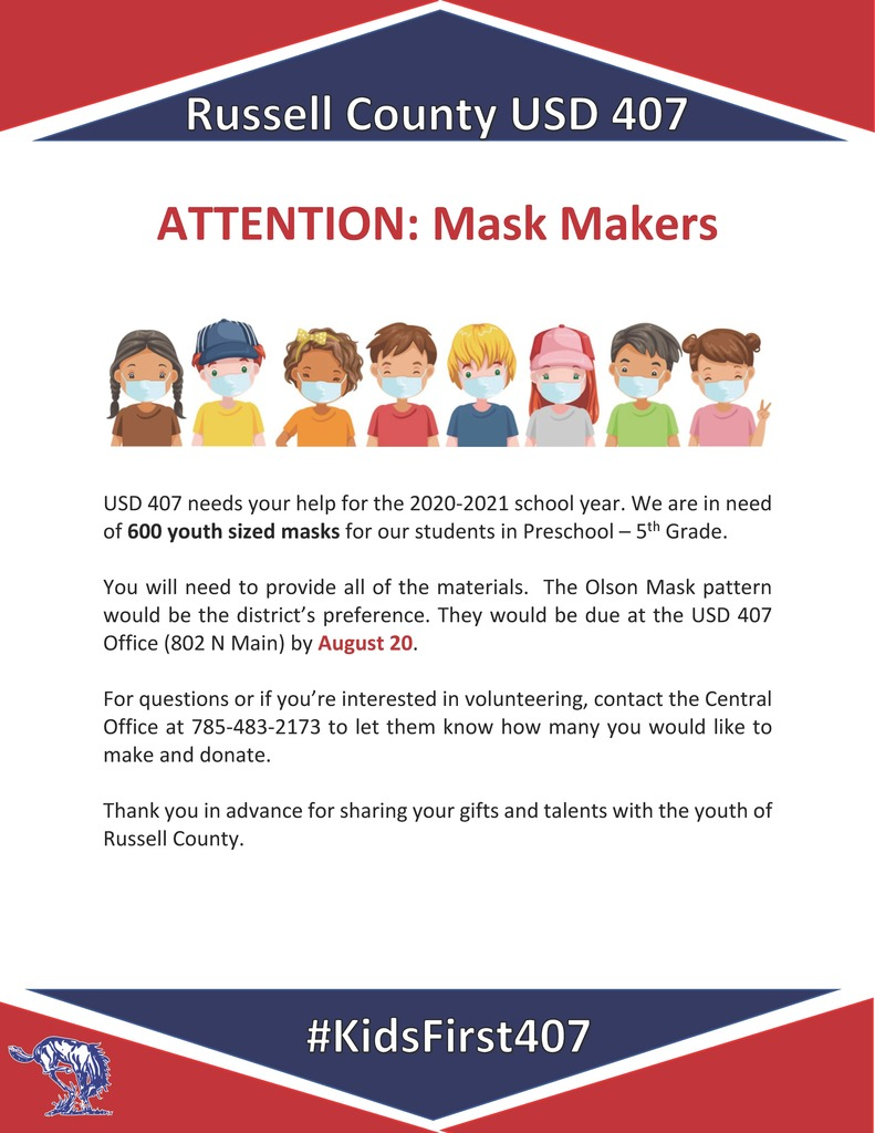 Masks Needed for Students