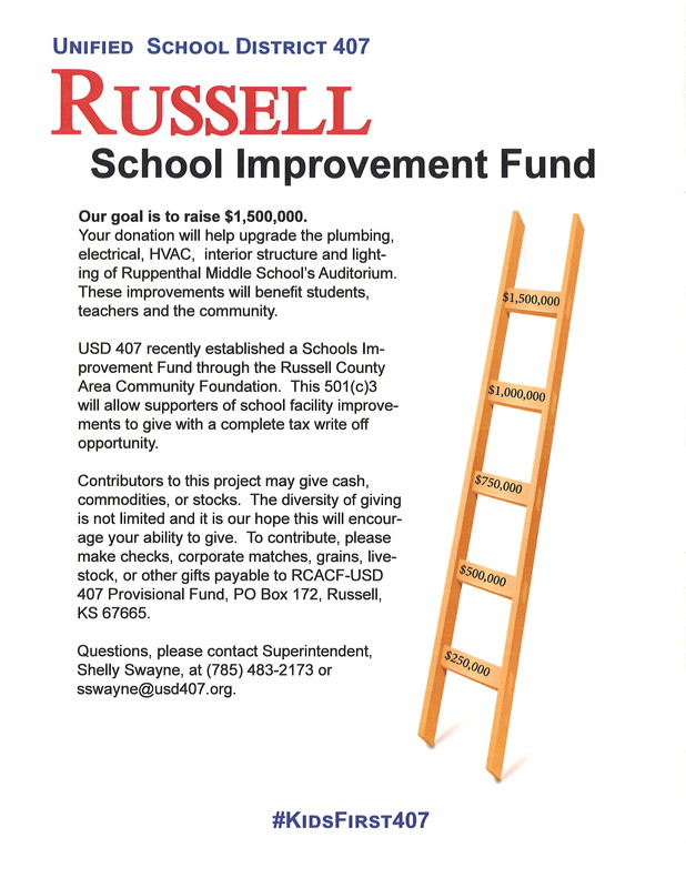 USD 407 announces new Capital Campaign, Schools Improvement Fund